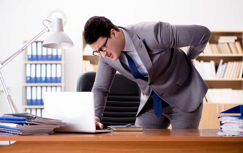 businessman with sore back