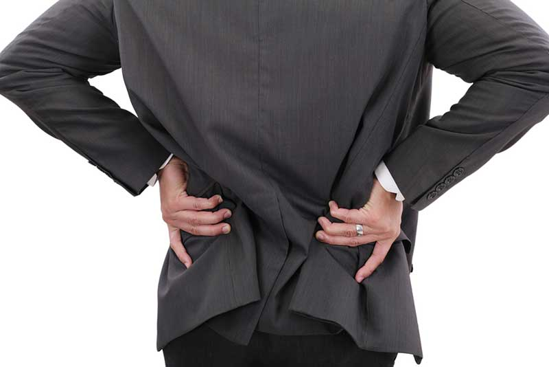 business man with lower back pain