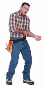 builder with sore arm